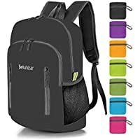 Bekahizar 20L Ultra Lightweight Backpack Foldable Hiking Daypack Rucksack Water Resistant Travel Day Bag for Men Women Kids Outdoor Camping MountaineeringWalking Cycling Climbing