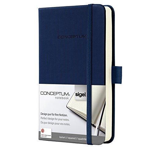 Preisvergleich Produktbild Sigel CO566 Notizbuch, ca. A6, kariert, Hardcover, dunkelblau, CONCEPTUM - viele Modelle