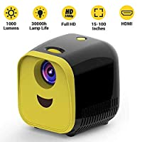 Draxon Mini Projector Support 1080P technology with HDMI, Integrated Media Player Video , Screen Size Up To 150 Inches, Compatible with smart phones, Tablets & laptops (Black Colour + UAE Adapter)