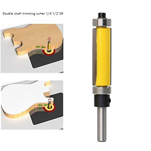 Sarplle Nutfräser Holzfräser Hitzebeständige Holzbearbeitung Werkzeug 38mm für Endbearbeitung verschiedener Materialien Massivholz, Spanplatte