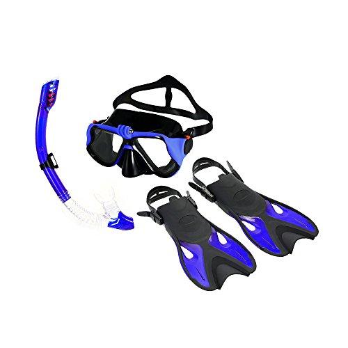 Festnight Unisex Tauchset Schnorcheln Combo Set Anti-Fog Taucherbrille Maske Schnorchel Rohr Flossen mit Gear Bag für Männer Frauen Schwimmen Tauchen Reise