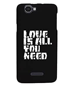 KolorEdge Back Cover For Micromax A120 Canvas 2 Colors - Black (1021-Ke15120MmxA120Black3D)