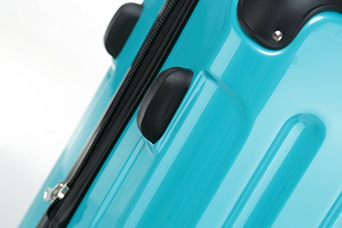 BEIBYE Hartschalen Koffer Trolley Rollkoffer Reisekoffer 4 Zwillingsrollen (66cm - 70L, Türkis) - 4