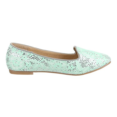 Ital-design - Chaussures Plates Turquoise Pour Femme
