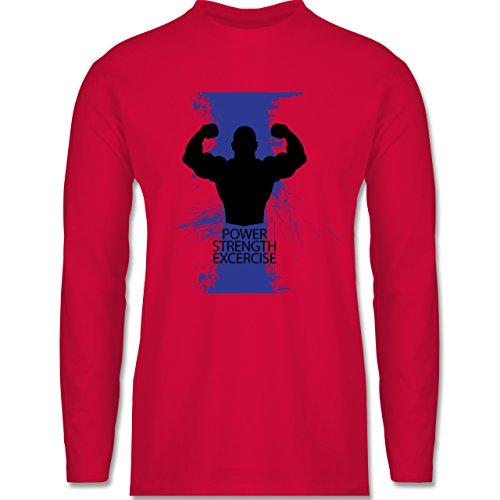 Shirtracer CrossFit & Workout - Power Strength Exercise - Herren Langarmshirt Rot