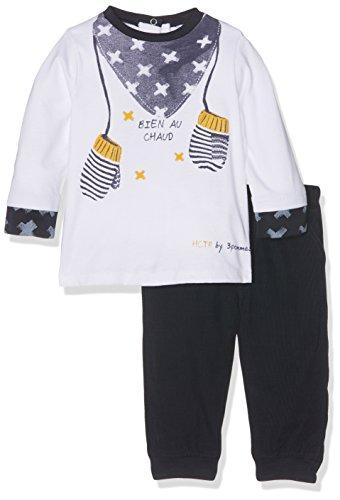 Boys Navy Blue Suit (3 Pommes Baby-Jungen Bekleidungsset Mini Cargo, Blau (Marineblau), 68)