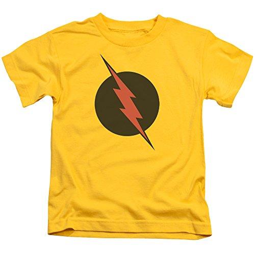 Justice League Of America DC Comics Reverse Flash Black Logo Little Boys T-Shirt