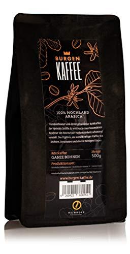 Burgen Kaffee ganze Bohnen 100% Hochland Arabica Röstkaffee 500g