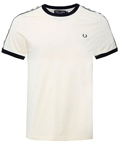 Fred Perry Men's Taped Ringer T-Shirt Yellow