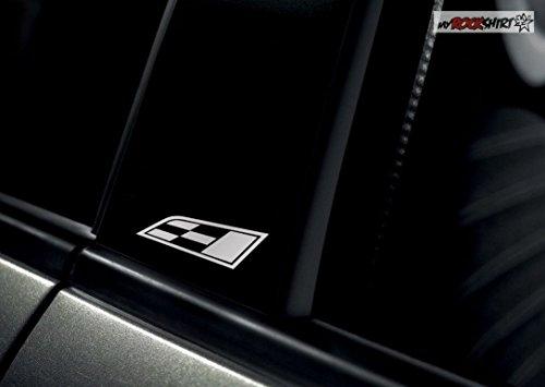 2 x Seat Cupra Symbol B Milchglas Frost Frostfolie Effekt Frost Milch Gravur Aufkleber aus Hochleistungsfolie für alle glatten Flächen von myrockshirt®