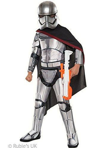 Generique - Captain Phasma-Lizenzkostüm für Kinder Star Wars grau-schwarz 116 (5-6 ()