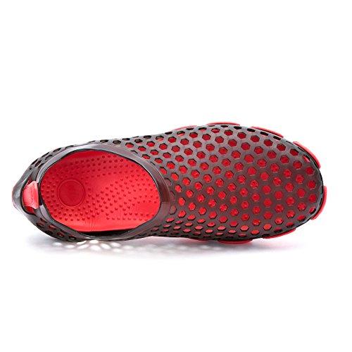 Young & Ming Sandales Pantoufles Chaussures de plage chaussures d'hommes Outdoor Athletic Silicone Chaussons occasionnels Noir