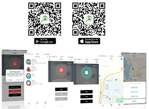 Phantiax Schlüsselfinder Check | Keyfinder mit Bluetooth App, GPS Ortung und Bewegungsmelder zum Finden von Schlüsseln oder Handy/Smartphone