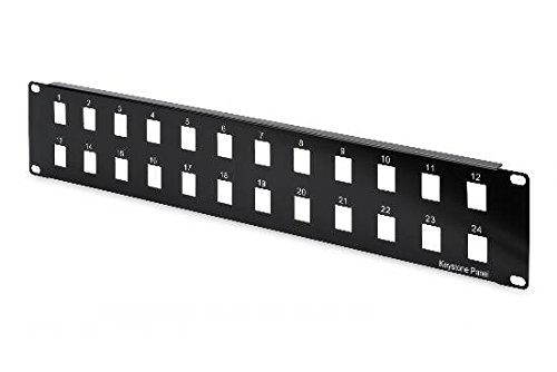 Modulare Panel (Assmann DN-91401 ungeschirmt Digitus Modular Patch Panel (24-Port, 2HE Rack Mount, Ral 9005) schwarz)