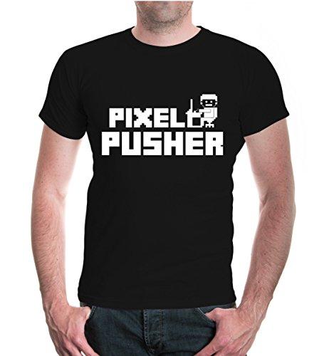 buXsbaum® T-Shirt Pixelpusher Black-White
