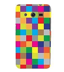 PrintVisa Designer Back Case Cover for Samsung Galaxy Core 2 G355H :: Samsung Galaxy Core Ii :: Samsung Galaxy Core 2 Dual (Bright Check)