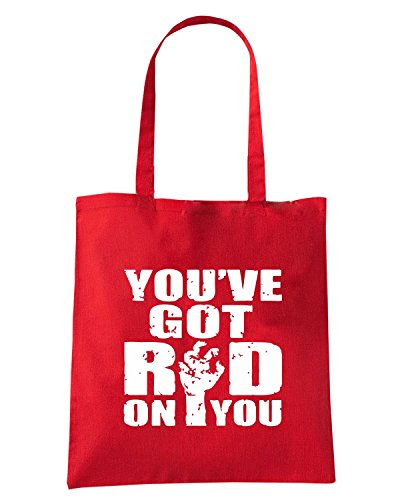 T-Shirtshock - Borsa Shopping OLDENG00790 you got red on you Rosso
