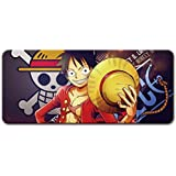 70x30CM anime ONE PIECE Luffy Cartoon mouse pad Thickened large Office computer table mat