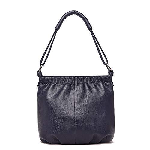 LLUVIAXHAN Frauen Tragetaschen Top Griff Satchel Handtaschen aus weichem Kunstleder Crossbody mit verstellbarem Schultergurt,darkblue -