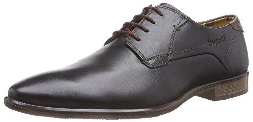 Bugatti R26071, Zapatos de Cordones Derby para Hombre, Negro-Schwarz Schwarz/Beige 105, 44 EU