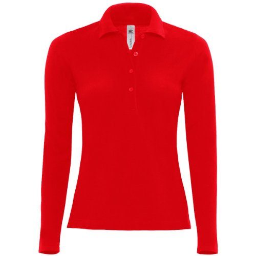 B&C Collection - Polo -  Femme Rouge - Rouge