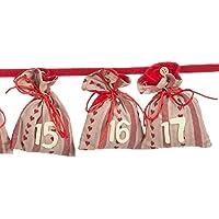 pajoma Adventskalender Besinnliche Zeit, 24 Beutel zum Befüllen, Weihnachten