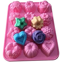Waymeduo Hand made Soap Molds Ice Lattice Cake Candy Making Moulds Cake Pans Handmade DIY Chocolate Mold