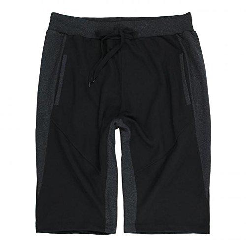 Lavecchia pantaloncini da uomo - con laccetti - elastico - grandi taglie nero: 3xl