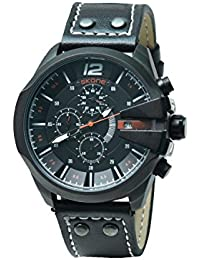 Skone 9430E-3 Chronograph Black Dial Leather Strap Wrist Watch / Casual Watch - For Men's