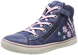 Lurchi Mädchen SUMMI Hohe Sneaker, Weiß (Old Navy 22), 34 EU