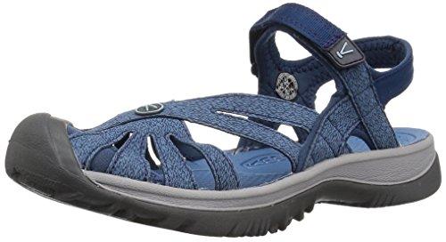 Keen Women Rose Sandal, 8,5US Women/39 EU, Blue Opal/provinicial Blue Rose 8