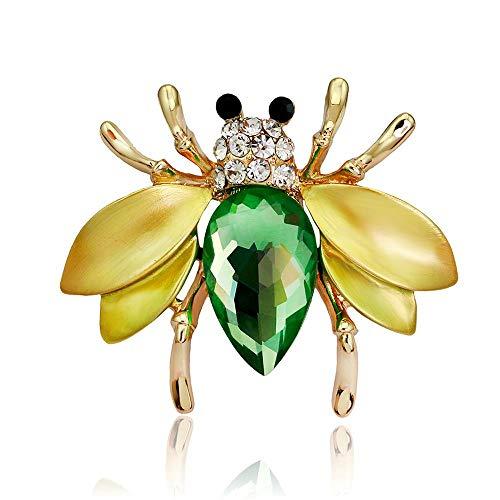 KFYU Jahr Tropfen Öl Brosche Kleine Biene Kaninchen Kopf Pin Schmuck Kostüm Corsage KC Gold / AL084-A