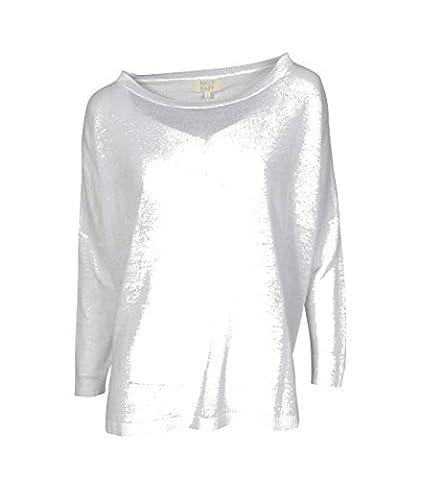 NOT SHY Damen Pullover aus Leinen in Weiss blanc M