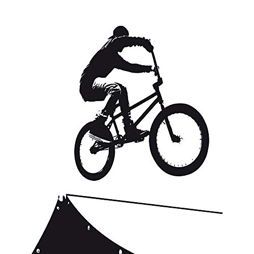 Wee Blue Coo LTD Painting Sport BMX Bike Bicycle Jump Air Ramp Black White Art Print Poster Wall Decor Kunstdruck Poster Wand-Dekor-12X16 Zoll