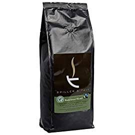 Spiller & Tait Rainforest Blend Ground Coffee (500g) – Organic Fairtrade Rainforest Alliance Certified – 100% Arabica Beans – Roasted in The UK