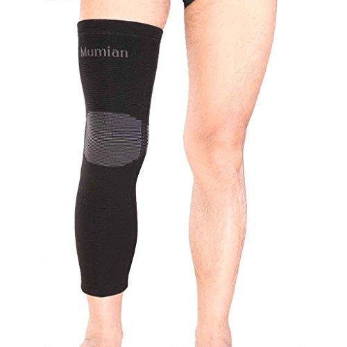 Nowear 1x elastisch Lange Kniebandage Sport Leg Wrap-Schutz-Knie-Klammer-Schutz-Auflage-Bein-Wärmer