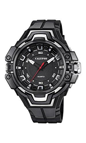 Calypso-Orologio Unisex al quarzo con Display analogico e cinturino in plastica, colore: nero, 7 K5687