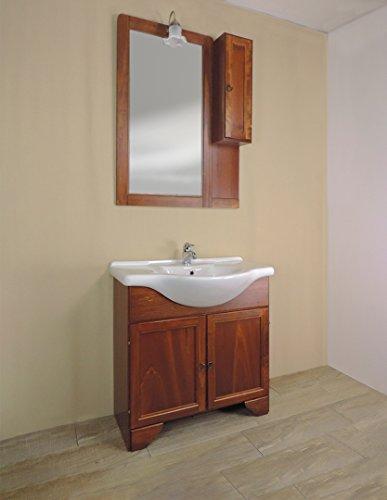 e883af885c91 Mobile bagno a terra classico Savini Eco, misura cm 85, lavabo e specchio  con