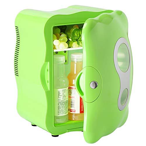 DULPLAY 8L Portátil Mini Nevera,Calentador Y Enfriador Eléctrico Nevera Portátil Coche Alimentación De 220v Y 12v para El Hogar, Oficina Y Coche-Verde 27.1x29.5x37.4cm(11x12x15inch)