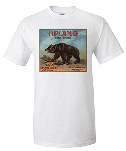 upland-bear-brand-north-ontario-california-citrus-crate-label-premium-t-shirt