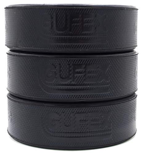 Gufex 3 Stück Herren Eishockey Puck Offizieller Iihf Spielpuck Farbe Schwarz