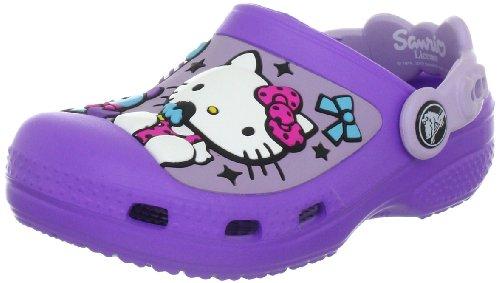 crocs Hello Kitty Candy Ribbons Clog (EU) 12948-551-133, Mädchen Clogs & Pantoletten, Violett (Purple/Lavender 551), EU 33/34