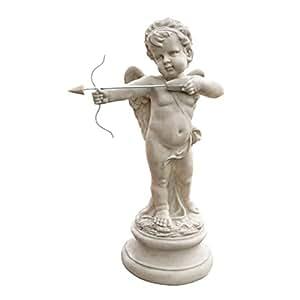 Design Toscano SH94142 Statue de Cupidon Saint Valentin Message d'Amour Résine