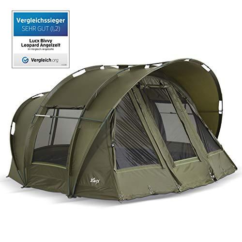 Lucx® Bivvy Leopard Zelt/Angelzelt 2-3 Mann/Karpfenzelt/Carp Dome/Fishing Tent, 10.000mm Wassersäule - Campingzelt