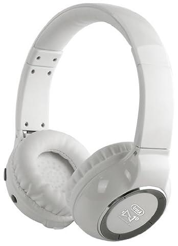 Trevi DJ-1260 HiFi Bluetooth Kopfhörer Bluetooth Headset (Voice Dialing, extra bequem, Lithium Akku) weiß