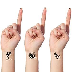 bling art tempor re tattoos engel und teufel set mit 10. Black Bedroom Furniture Sets. Home Design Ideas