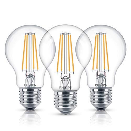 Philips LEDclassic Lampe, ersetzt 60W, E27, Warmweiß (2700 Kelvin), 806 Lumen, 3er Pack
