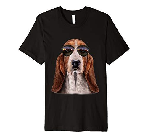 T-Shirt, Swag Basset Hound in Aviator Sonnenbrille, cool Dog