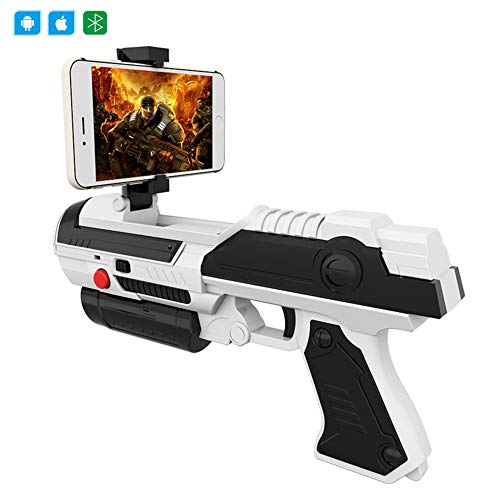 DUCKTOYS AR Pistola Controlador de Juego, Video Shootout Juego inalámbrico Bluetooth Manejar...