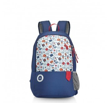 Skybags Mario 01 Blue Polyester 26Litres School Backpack